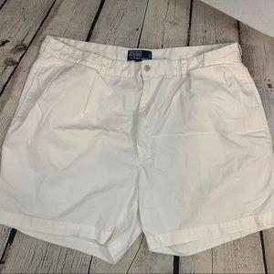 Polo Ralph Lauren mens white Andrew Shorts size 42
